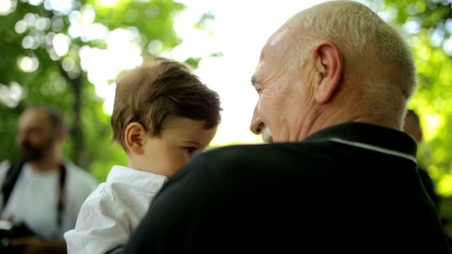 Having fun with grandpa video