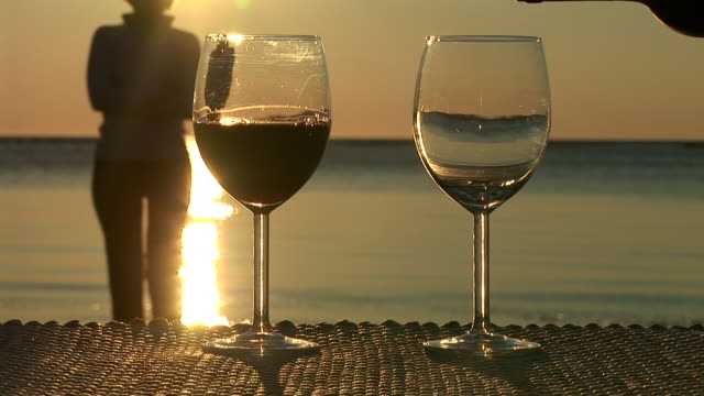 HD: Having Wine At Sunset video