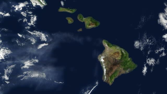 hawaii and the hawaiian islands - map oceans bildbanksvideor och videomaterial från bakom kulisserna