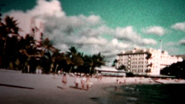 (8mm Vintage) 1955 Hawaii Hotels Waikiki Beach video