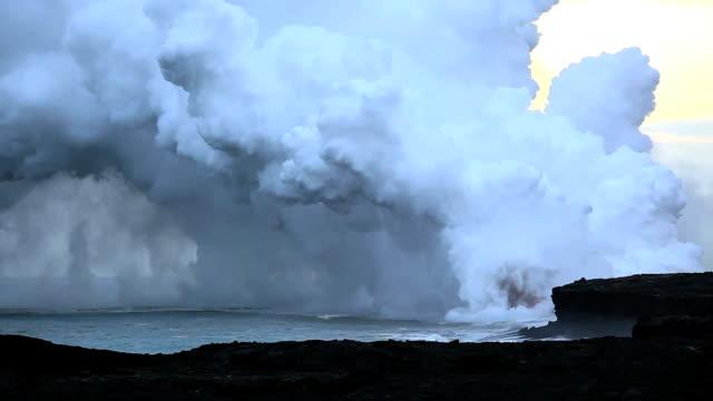 Hawaiian Volcano Kilauea Erupts into Pacific HD 1920 video