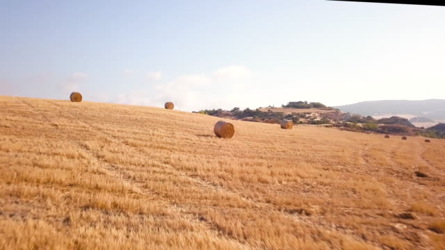 Hay stack field video