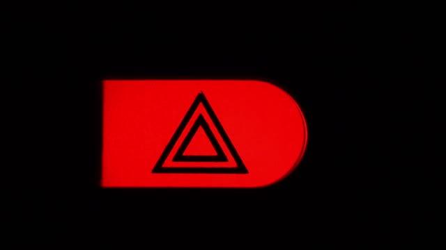 Hazard Lights on Car Dashboard. Hazard Lights on Car Dashboard. dashboard vehicle part stock videos & royalty-free footage