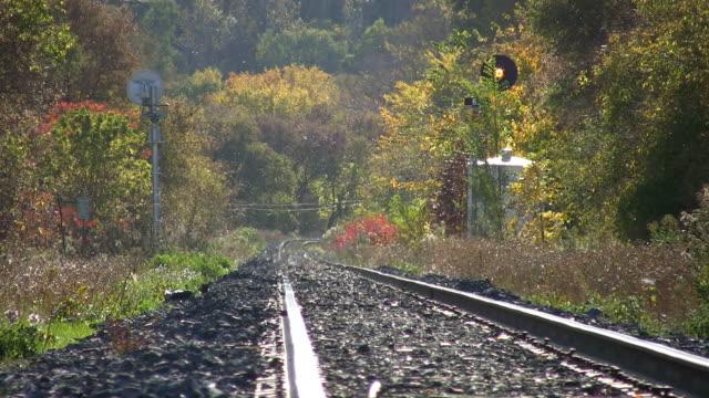 Hazy train tracks. video