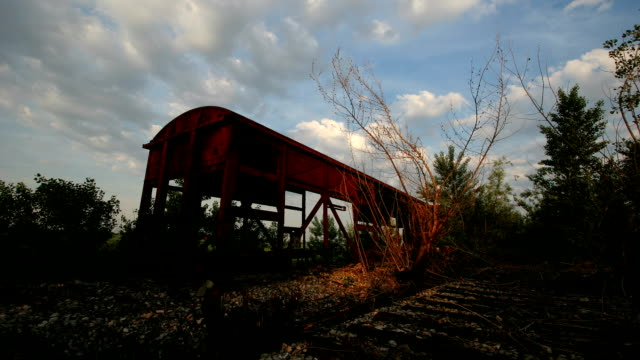 Hd time lapse: decaying train video