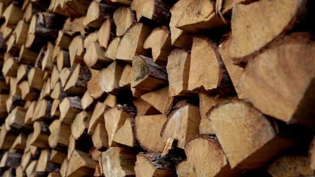 hd_stored wood - şömine odunu stok videoları ve detay görüntü çekimi
