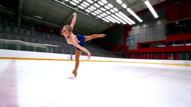 HD:Beautiful Female Having Figure Skating Performance video