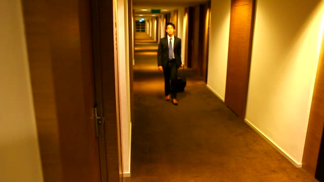 HD:Businessman arrived. video