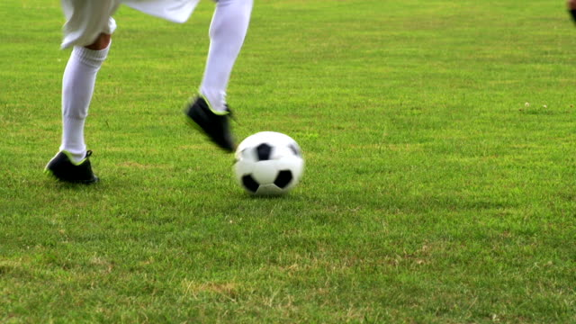 HD:Close-up of soccer dribbling video
