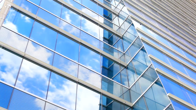 HD:Cloud reflection with glass(Timelapse) video