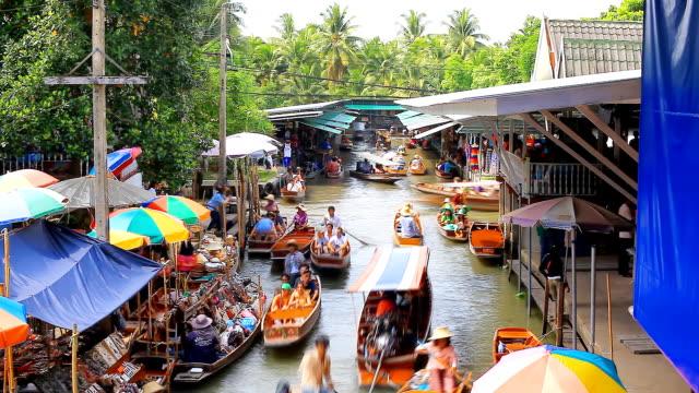 HD:Floating Market(Timelaspe). video