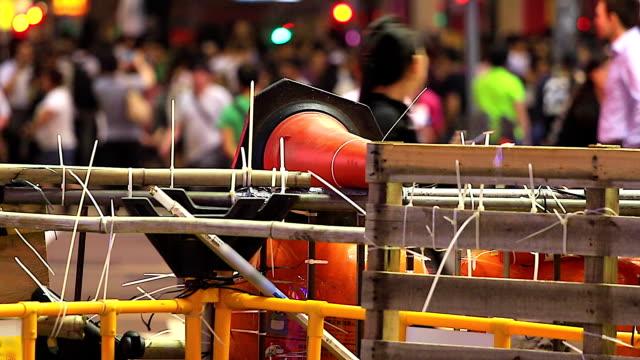 HD:Focusing of Obstacle fence at hongkong. video