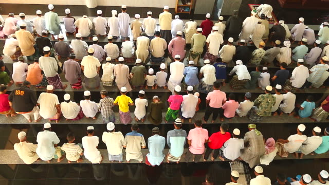 hd:group of islamic during prayer. - ramadan stock videos and b-roll footage