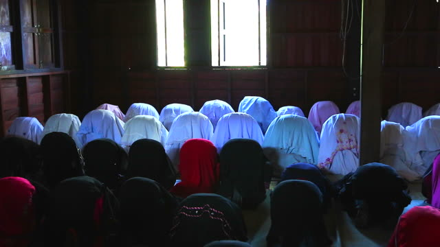 HD:Group of Islamic Women during Prayer. video