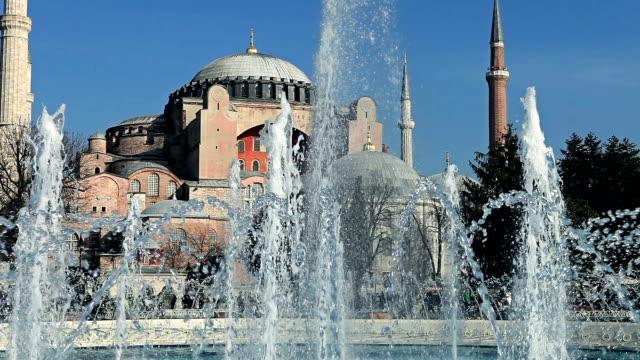 vídeos de stock, filmes e b-roll de hd: hagia sofia, istambul, turquia - característica arquitetônica