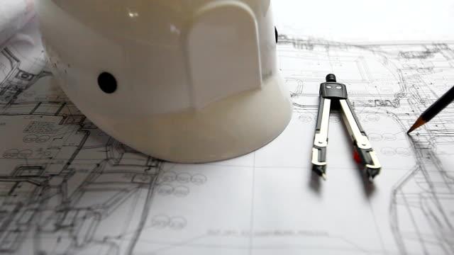 HD:Hand checking blueprint work. video
