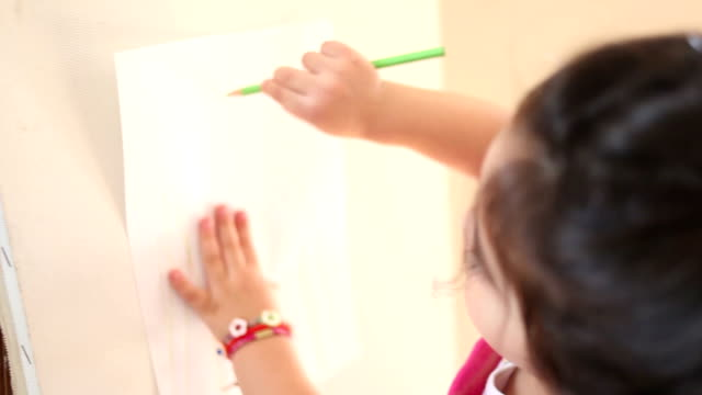 HD:Little Girl Painting video