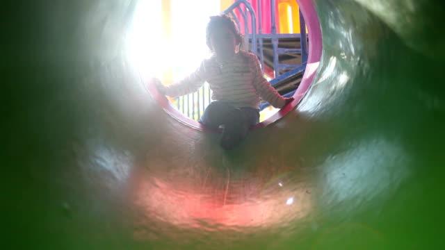 HD:Little Girl Sliding video