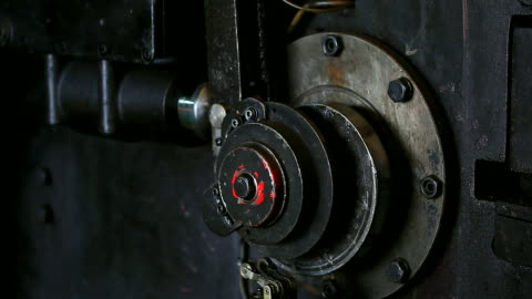 HD:Machine working. Machine pulley working. endurance stock videos & royalty-free footage