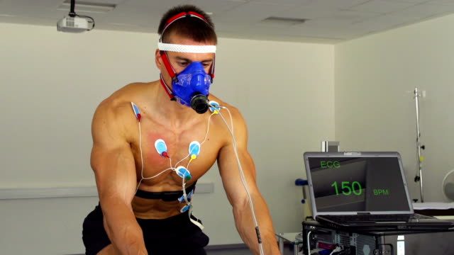HD:Pulse Trace and VO2 test on Indoor Bicycle video