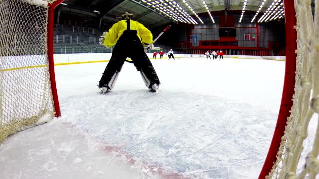 HD:Shot of Ice Hockey Team Scoring video