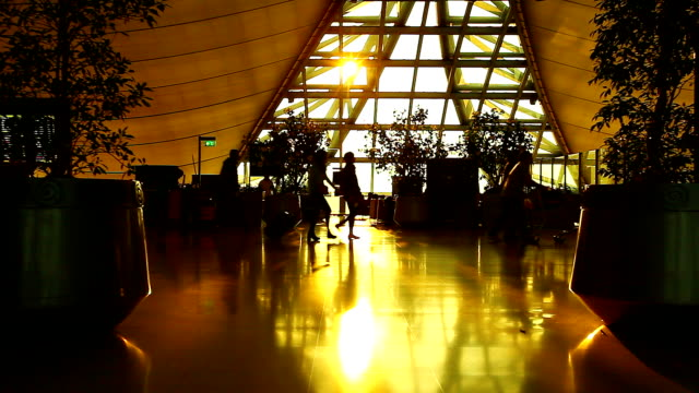HD:Silhouette scene for traveller at the airport. video