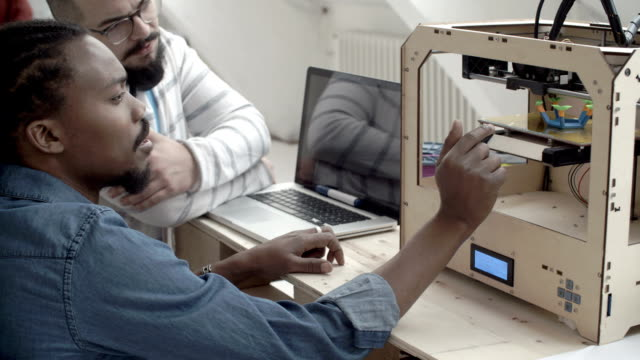 HD:Startup 3D Printing Office. video