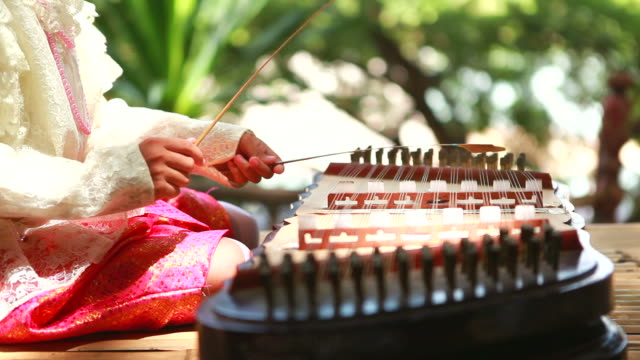 HD:Thai Instrument playing by thai girl. video