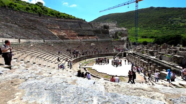 hd :素晴らしい劇場のエフェソス - プリエネ点の映像素材/bロール