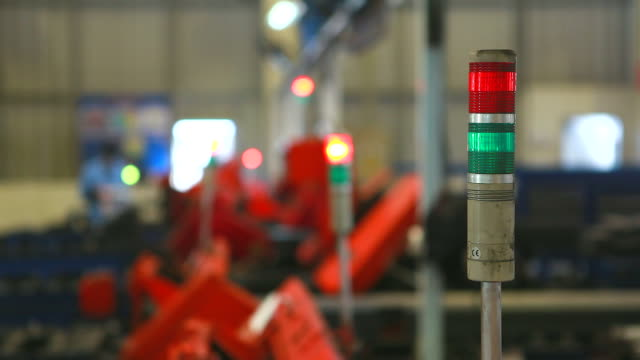 HD:Warning light on a processing machine . video