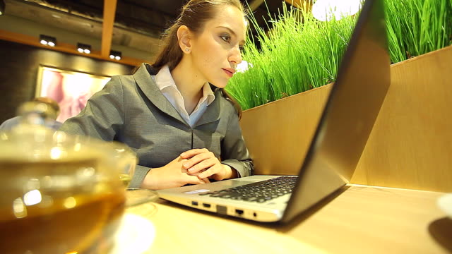 HD:Woman disappointing with information on her laptop. video
