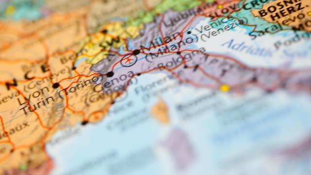 hd: mappa del mondo con vista panoramica. - nord europeo video stock e b–roll
