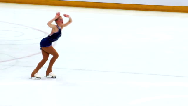 HD:Young Women Having Figure Skating Performance video