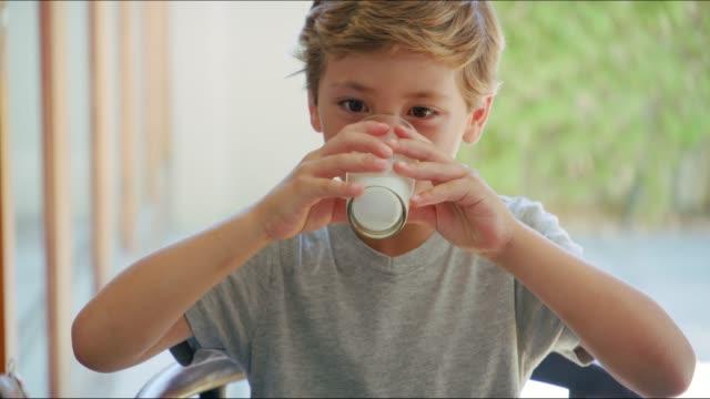 He loves his milk