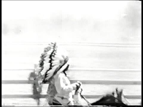 Headdress and horses