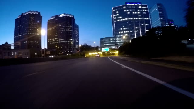 Heading West Downtown Expressway Magic Hour video