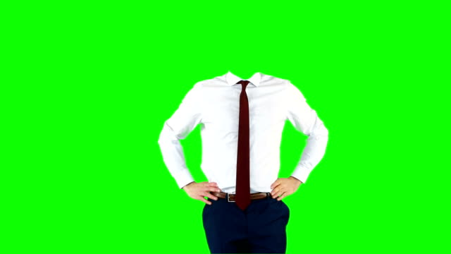 stockvideo's en b-roll-footage met headless businessman gesturing to camera - overhemd en stropdas