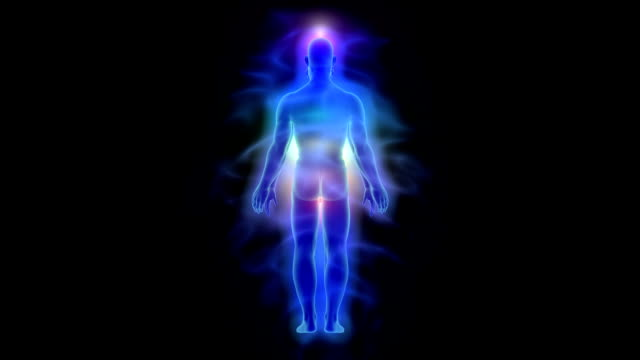 Healing energy, aura and chakras - woman and man video