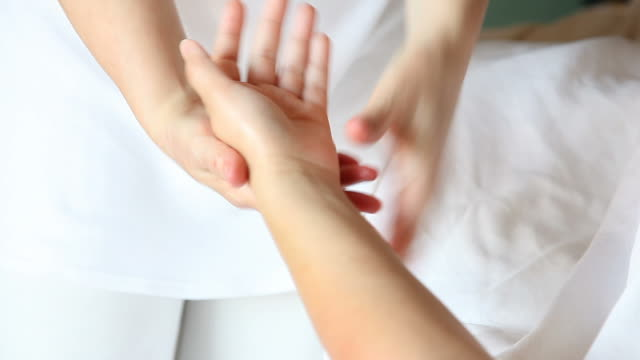 healing hands massage - naturopathy stock videos and b-roll footage