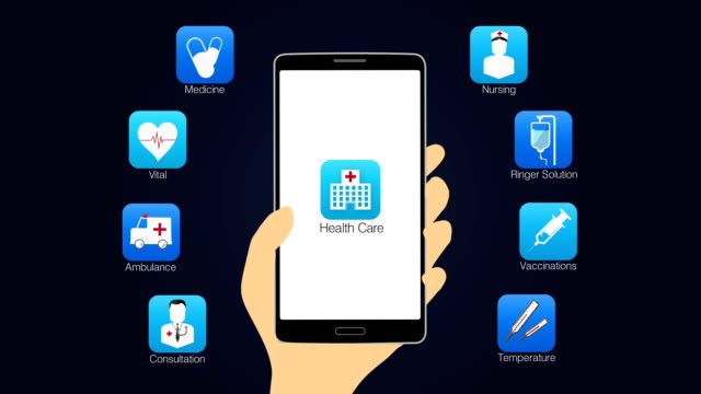Health care application function for smart phone,mobile 2 video