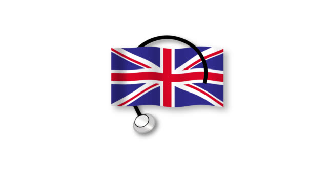Health care in the UK Video animation of the British flag and a stethoscope  (with alpha channel) nhs stock videos & royalty-free footage