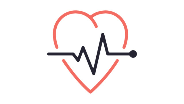 Health Insurance Line Icon Animation with Alpha