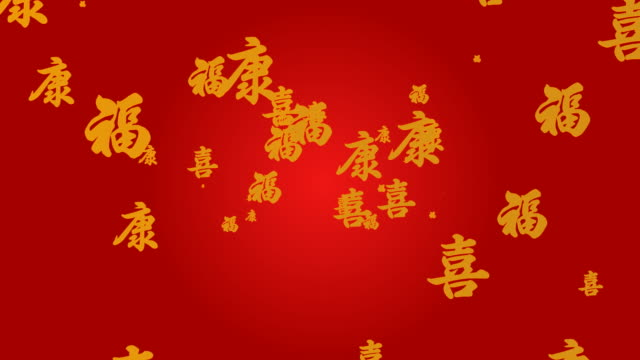 Health Wealth Happiness Chinese New Year Blessing video