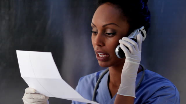 Healthcare worker with test results. video