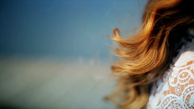healthy and beautiful hair,close up video
