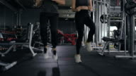 istock Healthy asian two people young woman with man high knee cardio (HIIT) during exercise burning fat overweight workout training at fitness cross gym healthy lifestyle. 1266130278