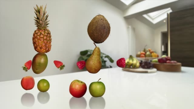 Healthy Dancing Fruit - Looping Alpha Channel Animation