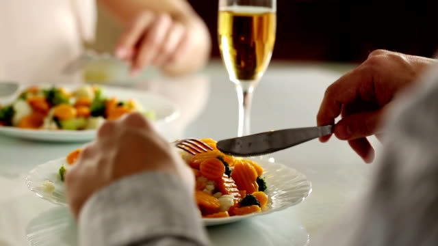 healthy dinner - fine dining stock videos and b-roll footage