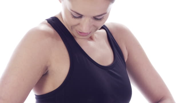 Healthy exercise woman video