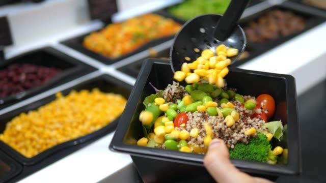 Healthy Food Fresh Vegetable Salad In Salad Bar